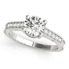 1.20 CTW Certified Diamond Solitaire Bridal Antique Ring 18K White Gold - 27390-REF#280Z3T