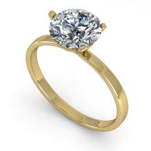 1.51 CTW Certified Diamond Solitaire Engagement Ring Martini 14K Yellow Gold - 32239-REF#466M4G