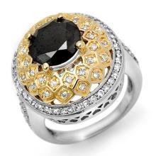 Natural 4.55 ctw Black & White Diamond Ring 14K White Gold - 11924-#204T2Z