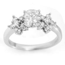 Natural 1.25 ctw Diamond Bridal Engagement Ring 18K White Gold - 11422-#160G8R