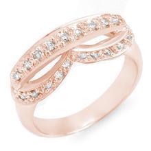 Genuine 0.35 ctw Diamond Ring 10K Rose Gold - 11061-#29Y2V
