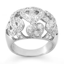 Genuine 0.85 ctw Diamond Ring 18K White Gold - 13107-#108Z5P