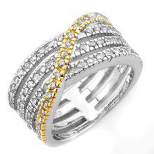 Natural 0.80 ctw Diamond Ring 10K 2-Tone Gold - 11528-#60T7Z