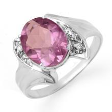 Genuine 1.59 ctw Amethyst & Diamond Ring 10K White Gold - 12475-#15W7K
