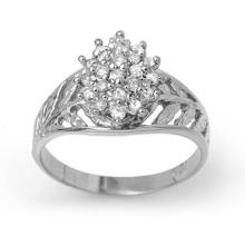 Genuine 0.25 ctw Diamond Ring 18K White Gold - 13759-#33M2G