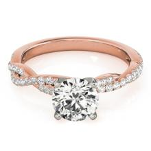0.75 CTW Certified Diamond Solitaire Bridal Ring 18K Rose Gold - 27844-REF#106X3Y