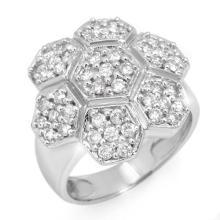 Genuine 1.33 ctw Diamond Ring 14K White Gold - 10609-#84Z6P