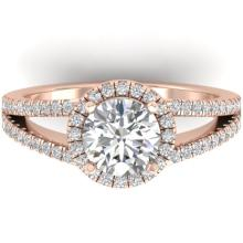 2 CTW Certified Diamond Solitaire Engagement Micro Halo Ring 14K Rose Gold - 30379-REF#352Y2X