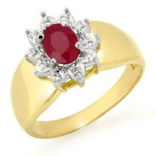 Natural 0.50 ctw Ruby Ring 10K Yellow Gold - 13352-#15N2F