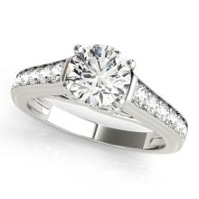 1.50 CTW Certified Diamond Solitaire Bridal Ring 18K White Gold - 27507-REF#297M4G