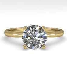 1.54 CTW Certified Diamond Bridal Solitaire Engagement Ring 14K Yellow Gold - 30608-REF#440T2Z