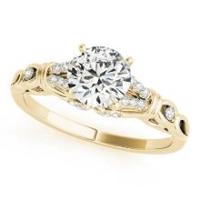 0.70 CTW Certified Diamond Solitaire Bridal Ring 18K Yellow Gold - 27863-REF#105V3A