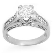 Natural 1.25 ctw Diamond Bridal Engagement Ring 14K White Gold - 11598-#149X5Y