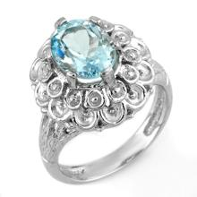 Natural 2.25 ctw Aquamarine Ring 10K White Gold - 11166-#33T2Z