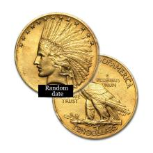 $10 Indian Gold Coin - Eagle - 1907 to 1933 - Random date  - REF#RVH4132