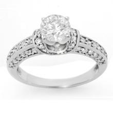 18K White Gold Jewelry 1.60 ctw Diamond Bridal Ring - SKU#U196R6- 1906- 18K