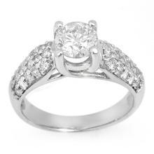 14K White Gold Jewelry 1.60 ctw Diamond Bridal Ring - SKU#U19A50- 1885-14K