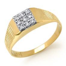 10K Yellow Gold Jewelry 0.18 ctw Diamond Anniversary Men's Ring - SKU#U13B5- 90839- 10K