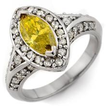18K White Gold Jewelry 1.72 ctw Yellow Diamond Ring - SKU#U308Y8- 1998- 18K