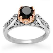 14K 2Tone Gold Jewelry 1.40 ctw Diamond Bridal Ring - SKU#U51K1- 2082-14K