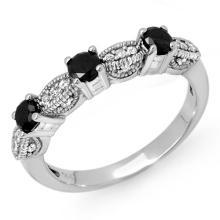 18K White Gold Jewelry 0.85 ctw Diamond Anniversary Ring - SKU#U32E5- 90838- 18K