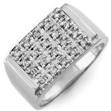 14K White Gold Jewelry 0.50 ctw Diamond Anniversary Men's Ring - SKU#U46T8- 1337-14K
