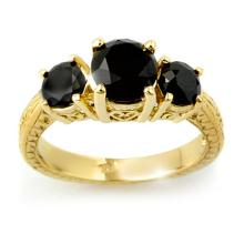 14K Yellow Gold Jewelry 2.50 ctw Black Diamond Bridal Ring - SKU#U42B6- 99253-14K
