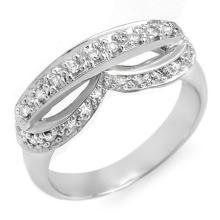 18K White Gold Jewelry 0.35 ctw Diamond Anniversary Ring - SKU#U36Z1- 1592- 18K