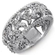 14K White Gold Jewelry 1.0 ctw Diamond Bridal Ring - SKU#U44O7- 1117-14K