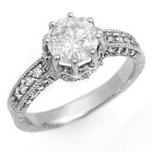 18K White Gold Jewelry 1.75 ctw Diamond Solitaire Ring - SKU#U313N3- 99416- 18K
