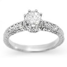 14K White Gold Jewelry 0.85 ctw Diamond Solitaire Ring - SKU#U63B6- 99104-14K