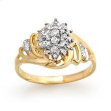 18K Yellow Gold Jewelry 0.25 ctw Diamond Anniversary Ring - SKU#U20H9- 99342- 18K