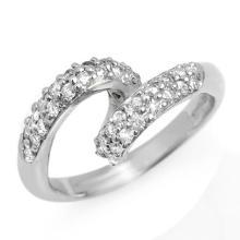 14K White Gold Jewelry 0.60 ctw Diamond Anniversary Ring - SKU#U33X1- 1665-14K