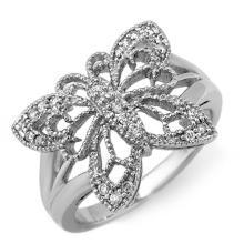 14K White Gold Jewelry 0.25 ctw Diamond Anniversary Ring - SKU#U27S6- 1840-14K