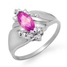 14K White Gold Jewelry 0.52 ctw Amethyst & Diamond Ring - SKU#U11K8- 90078-14K
