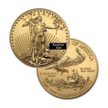 Brilliant Uncirculated $50 1oz Gold Coin American Eagle - Random date  - REF#FHL8091