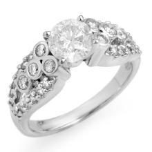 14K White Gold Jewelry 1.75 ctw Diamond Bridal Ring - SKU#U21R54- 1894-14K