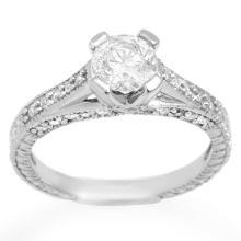 10K White Gold Jewelry 1.50 ctw Diamond Bridal Ring - SKU#U177E7- 1821- 10K