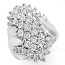 14K White Gold Jewelry 2.50 ctw Diamond Anniversary Ring - SKU#U132W8- 99760-14K