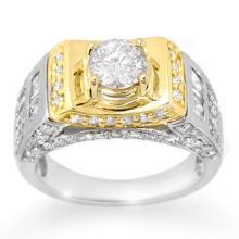 18K 2Tone Gold Jewelry 2.05 ctw Diamond Anniversary Ring - SKU#U184H9- 1378- 18K