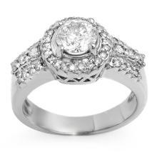 18K White Gold Jewelry 1.65 ctw Diamond Bridal Ring - SKU#U217H4- 1785- 18K