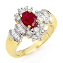 10K Yellow Gold Jewelry 1.78 ctw Ruby & Diamond Ring - SKU#U37J2- 90366- 10K