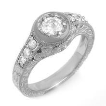 10K White Gold Jewelry 0.70 ctw Diamond Bridal Ring - SKU#U49K7- 99074- 10K