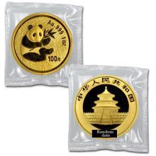 Brilliant Uncirculated 1oz Gold Coin Chinese Panda - Random date