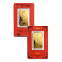 1oz Pamp Suisse Year of the Goat Gold Bar in Assay