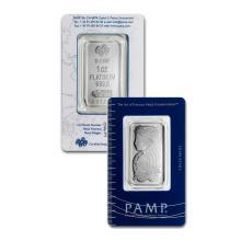 1oz Pamp Suisse Platinum Bar in Assay - .9995 Fine Platinum