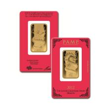 1oz Pamp Suisse Year of the Dragon Gold Bar in Assay