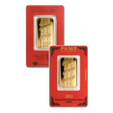 1oz Pamp Suisse Year of the Snake Gold Bar in Assay