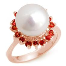 Genuine 0.75 ctw Red Sapphire Ring 14K Rose Gold - 10359-#36G5R