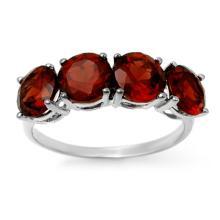 Genuine 3.66 ctw Garnet Ring 18K White Gold - 12809-#28N5F